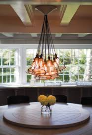 edison bulb chandelier kitchen transitional with 48 wolf range 8