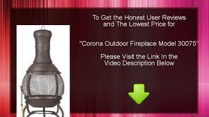 best corona outdoor fireplace model 30075 youtube
