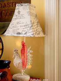 Rooster Home Decor Rooster Lamp French Country Home Decor Debbiedoos