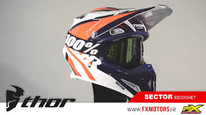 thor motocross helmet casque cross thor mx sector ricochet bleu orange youtube
