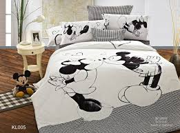 Cotton Queen Duvet Cover Mickey Mouse Kids Print Bedding Set 5pc Bedclothes 100 Cotton