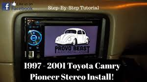 1997 2001 toyota camry stereo removal and replacement with