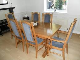 Oak Dining Room Table Chairs by Solid Oak Dining Table And 6 Chairs