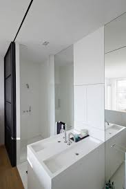 architecture white bathroom refurbished home in amsterdam by