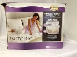 sleep better isotonic mattress topper queen 4 inch foam and cover