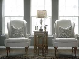 Linen Wingback Chair Design Ideas White Linen Wingback Chairs For The Home Pinterest Wingback