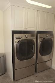 Pedestal Cabinets Cabinet Idea Front Loaders With Pedestal And Cabinets Laundry