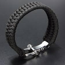 paracord bracelet images 1 pcs stainless steel u shape buckle 7 core paracord survival jpg