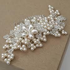 pearl hair comb pearl bridal hair comb vintage pearls hair combs and