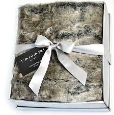 Faux Fur Blanket Queen Amazon Com Mink Faux Fur Throw By Tahari Home Luxury Plush