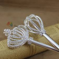 Tiara And Wand Favor by 3d Lovely Princess Rhinestone Magic Wands