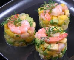 canap avocat crevette tartare de crevettes mangue avocats recette de tartare de