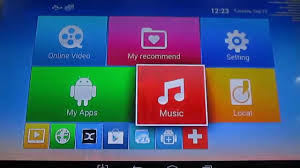 em6q mxq android tv box interface walk through xbmc h 265 video