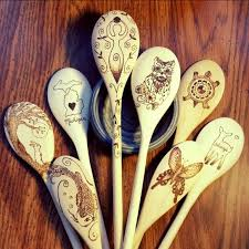 300 best indigo spoons etsy wood burned spoons and cutting boards