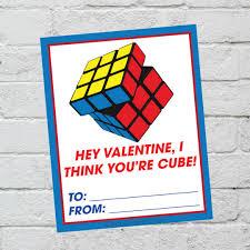 rubik u0027s cube valentine cards printable it is a keeper