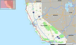 California Zip Code Map by Map Of Highway 101 California California Map