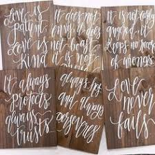 1 corinthians 13 wedding rustic wood wedding signs 1 corinthians 13 set of 6 or 8