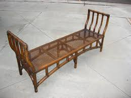 vintage bamboo furniture vintage wicker rattan bamboo cane bench