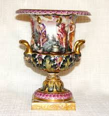 Capodimonte Vases Antique Capo Di Monte Mobile Antique Price Guide