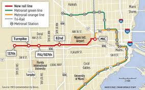 University Of Miami Map by County Needs To Raise 102 Million For Rail Line West Miami Herald