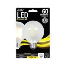 ace hardware led lights feit electric led bulb 5 5 watts 500 lumens globe g25 soft white 1