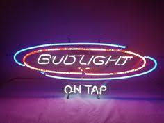 bud light light up sign vintage bud light up beer street lighted bar sign man cave w clock