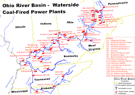 Ohio Rivers Map by Line Coal Line Ohio River Mainstem System Map