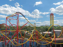 Six Flags X2 2018 Neuheit Wonder Woman Raptor Track Coaster Rmc Six Flags