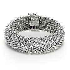 shiny mesh bracelet sterling silver