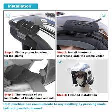 amazon com motorcycle communication headset helmet bluetooth dual
