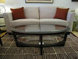 Ethan Allen Coffee Table Glass Oval Glass Wood Coffee Table Home Design And Decor Ethan Allen