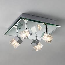 Flush Ceiling Lights For Bathroom Lewis Cornell 4 Light Bathroom Ceiling Plate Contemporary