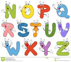 cartoon alphabet characters n z royalty free stock images image