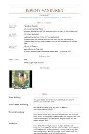 cleaner resume template cleaner resume sles visualcv resume sles database