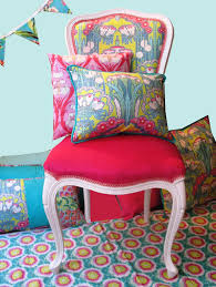 Amy Butler Home Decor Fabric by Renewed Louis Xv Chair With Velvet Seat And Amy Butler Fabrics