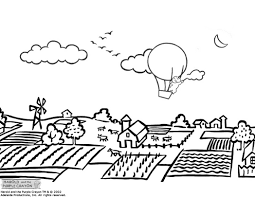 village coloring pages funycoloring