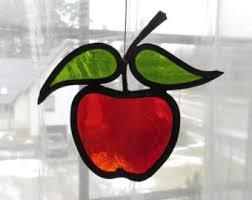 vintage stained glass suncatcher etsy