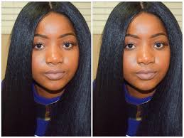 weave no leave out hairstyle brazillian kinky straight hair under 20 full sew in wig no leave out