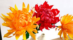 how to make easy paper flowers chrysanthemum mums flower 97