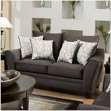 Charcoal Sofa Bed Living Room Simmons Flannel Charcoal Sofa Inside Furniture