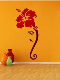 buy decor kafe flower ganesh ji wall sticker online best prices buy decor kafe flower ganesh ji wall sticker online