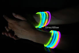 glow bracelets circle punched