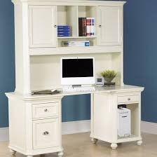 White Office Desk With Hutch Bungalow Computer Desk Hutch Brighten Up Your Country Or
