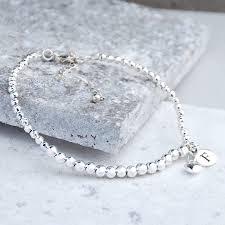 sterling silver rose gold bracelet images Personalised silver and rose gold bead bracelet by penelopetom jpg