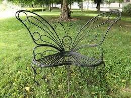 Metal Garden Chair Hi Line Gift Ltd Butterfly Metal Garden Chair U0026 Reviews Wayfair