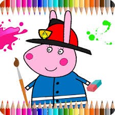 coloring book kids pepa pig android apps google play