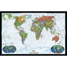 Personalized World Travel Map by World Decorator Wall Map Enlarged And Laminated National