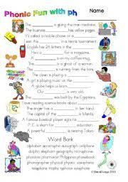 Ph Worksheet 3 Pages Of Phonic With Ph Study Worksheet Dialogue