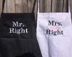 His And Hers Wedding Gifts Wedding Aprons Etsy