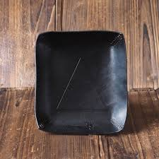 Leather Home Decor Leather Valet Tray Black Es Corner